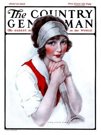 """""""Woman Tennis Player,"""" Country Gentleman Cover, June 27, 1925"""