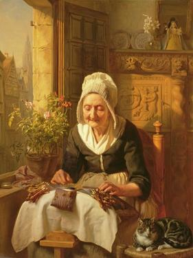 The Old Lacemaker, 1844 by J.l. Dyckmans