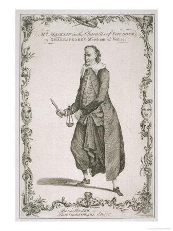 Charles Macklin Actor in the Role of Shylock in the Merchant of Venice