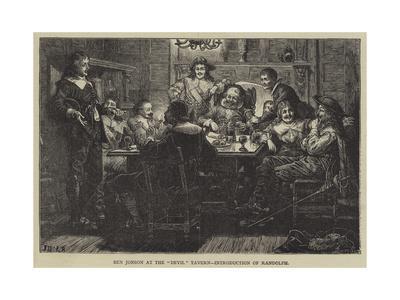 Ben Jonson at the Devil Tavern, Introduction of Randolph