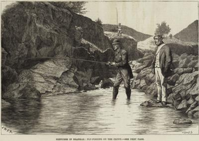 Sketches in Braemar, Fly-Fishing on the Cluny