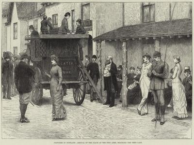 Sketches in Scotland, Arrival of the Coach at the Fife Arms, Braemar