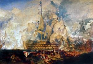 Battle of Trafalgar, 21 October 1805 by J^ M^ W^ Turner