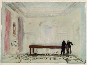 Billiard Players at Petworth House, 1830 by J. M. W. Turner
