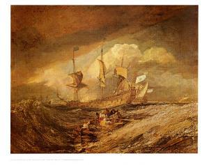 Boats with Anchors by J^ M^ W^ Turner