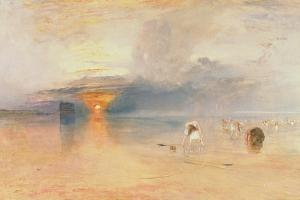 Calais Sands at Low Water, Poissards Gathering Bait, 1830 by J. M. W. Turner