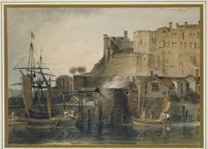Chester Castle, C. 1805 (Watercolour over Graphite, with Pen and Ink and Scratching Out) by J. M. W. Turner