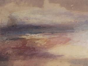 Coastal View at Sunset by J. M. W. Turner