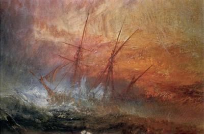 Detail of Sailing Ship from The Slave Ship by J. M. W. Turner
