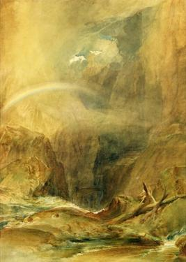 Devil's Bridge, St. Gotthard's Pass, C.1804 (W/C and White Wax Crayon on Wove Paper) by J. M. W. Turner