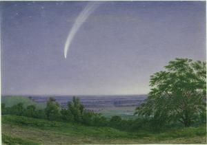 Donati's Comet, Oxford, 7.30Pm, 5th October 1858 (W/C and Bodycolour over Graphite on Paper) by J. M. W. Turner
