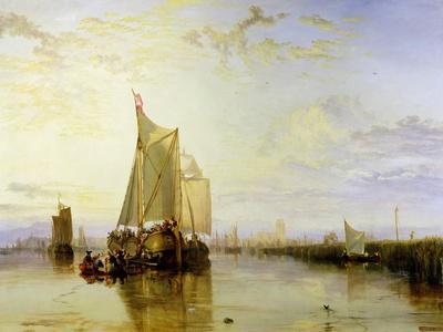Dort or Dordrecht: the Dort Packet-Boat from Rotterdam Becalmed, 1817-18