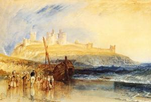 Dunstanborough Castle, North by J^ M^ W^ Turner