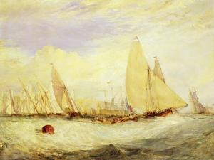 East Cowes Castle, the Seat of J Nash Esq., the Regatta Beating to Windward, 1828 by J. M. W. Turner