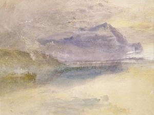 Evening: Cloud on Mount Rigi, Seen from Zug, C.1841 by J. M. W. Turner