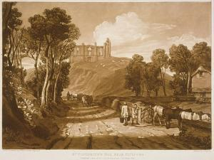 F.33.I St. Catherine's Hill Near Guildford, from the 'Liber Studiorum', Engraved by J.C. Easling,… by J. M. W. Turner
