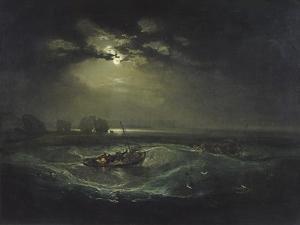 Fishermen at Sea by J^ M^ W^ Turner