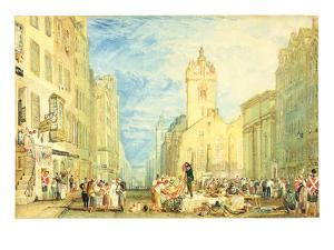 High Street, Edinburgh, C.1818 (W/C, Pen, Ink, Graphite and Scratching Out on Wove Paper) by J. M. W. Turner