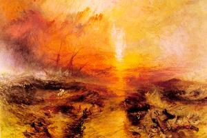 Joseph Mallord Turner Slaves Being Thrown Overboard Typhoon Approaching by J. M. W. Turner