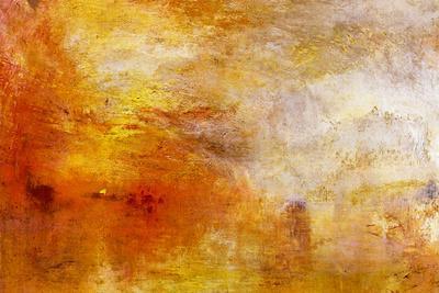 Joseph Mallord Turner Sun Setting over a Lake
