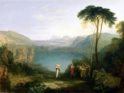 Lake Avernus: Aeneas and the Cumaean Sibyl, c.1814-5