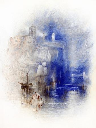 Light-Towers of La Heve, C.1844 by J. M. W. Turner