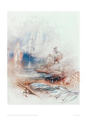 Mackerel on the Beach by J^ M^ W^ Turner