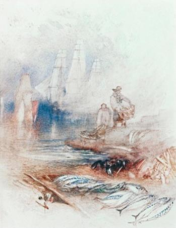 Mackerel on the Beach by J. M. W. Turner