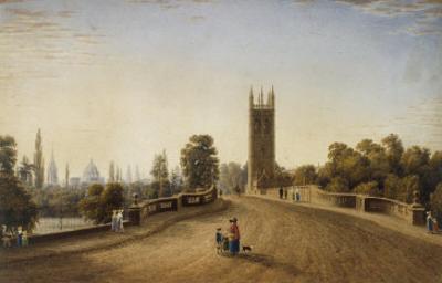 Magdalen Bridge, Oxford, 1859