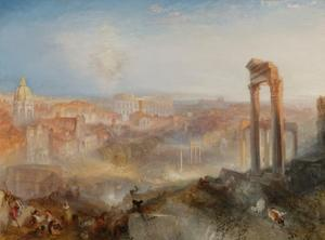 Modern Rome-Campo Vaccino by J. M. W. Turner
