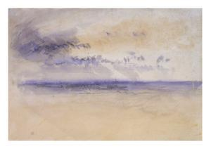 Off the Coast: Seascape and Clouds, 19th Century by J. M. W. Turner