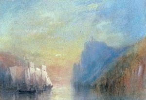 On the Rhine, c 1830 by J. M. W. Turner