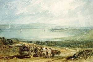 Poole, Dorset with Corfe Castle in the Distance by J. M. W. Turner
