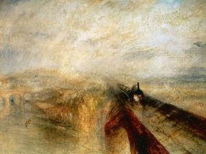 """Rain, Steam And Speed """"The Great Western Railway"""" 1844 by J. M. W. Turner"""