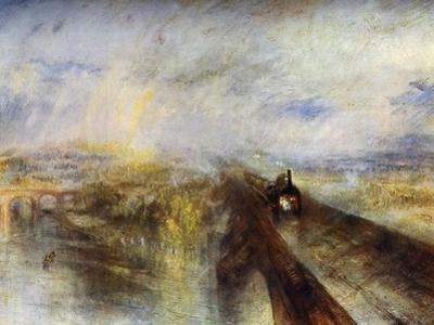 Rain, Steam and Speed - the Great Western Railway, C1844 by J. M. W. Turner