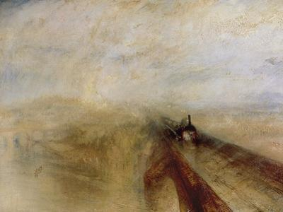 Rain Steam and Speed, the Great Western Railway, Painted Before 1844 by J. M. W. Turner