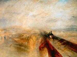 Rain Steam Speed- The Great Western Railway, 1844 by J. M. W. Turner