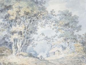 Rustics on a Country Track at Hindhead, Surrey, 1792 by J. M. W. Turner