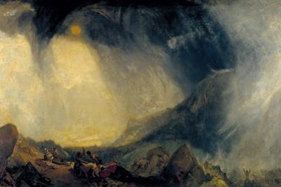 Snow Storm: Hannibal and His Army Crossing the Alps by J. M. W. Turner