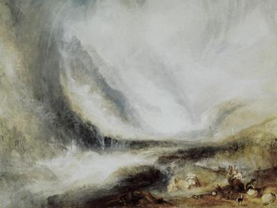 Snowstorm and Avalanche in Val D'Aosta by J. M. W. Turner