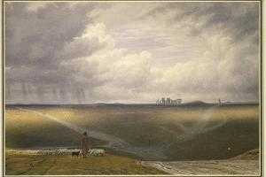 Stonehenge - a Showery Day by J. M. W. Turner