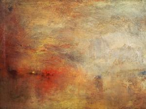 Sundown over a Lake, 1840 by J. M. W. Turner