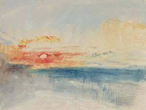 Sunset, C.1845 by J. M. W. Turner