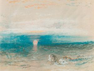 Sunset Over the Sea, with Fish by J. M. W. Turner
