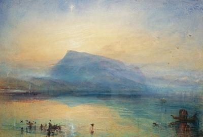 The Blue Rigi: Lake of Lucerne - Sunrise, 1842 by J. M. W. Turner