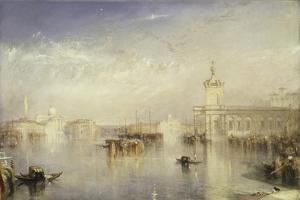 The Dogano, San Giorgio, Citella, from the Steps of the Europa by J^ M^ W^ Turner