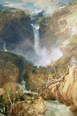 The Great Falls of the Reichenbach, 1804 by J^ M^ W^ Turner
