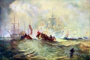 The Landing of William of Orange at Torbay, 1688, C1920 by J. M. W. Turner