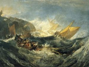 The Shipwreck of the Minotaur by J. M. W. Turner