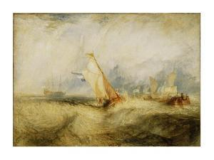 Van Tromp, going about to please his Masters, Ships a Sea, getting a Good Wetting, by J. M. W. Turner